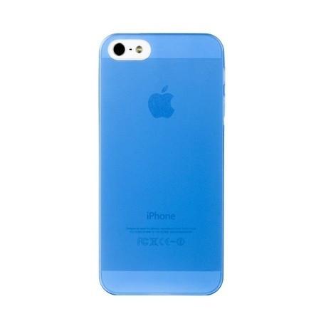 Накладка супертонкая для IPhone 5/5S Голубая infinity