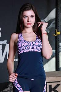 Майка для спорта и улицы Totalfit M-11 M Синий с розовым