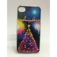 Чехол для iPhone 4 - Новогодняя елка infinity