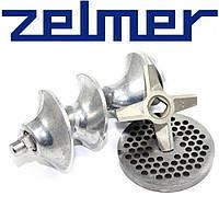 Шнек в комплекте с ножом и решеткой для мясорубки Zelmer (шнек для двухстороннего ножа NR8)
