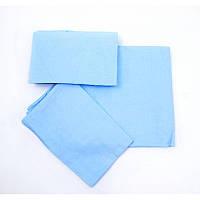 Комплект детского постельного белья - 3 предмета. Цвет-голубой