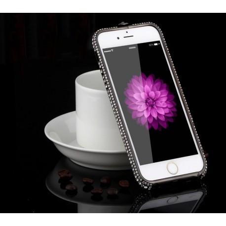 Бампер Black Luxury зі стразами для iPhone 6 Plus/6S Plus (5.5) infinity