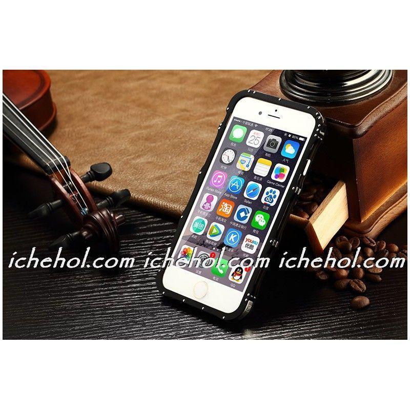 Бампер iMatch алюмінієвий на IPhone 6 Plus/6S Plus (5.5) Чорний infinity