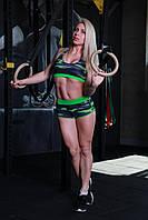 Женские спортивные шорты Totalfit H-11 M Зеленый с черным