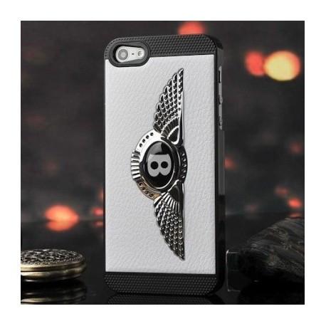 Чохол Накладка Bentley чорна c білим логотипом для iPhone 5/5S infinity