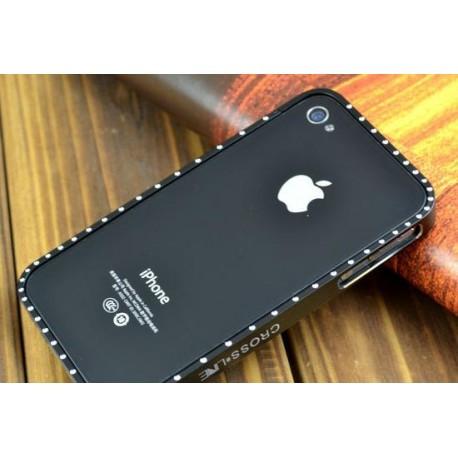 Бампер Cross-Line Ultrathin для iphone 4 чорний infinity