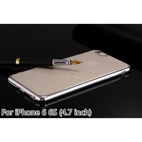 Прозрачный силиконовый TPU  чехол  для iphone 6 /6s Серебристый infinity