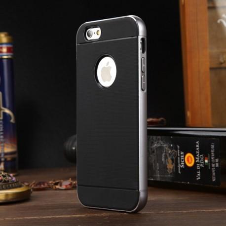 Чехол TPU пластик с алюминиевой рамой для Iphone 6/6s   Темно серый infinity