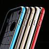 Чехол TPU пластик с алюминиевой рамой для Iphone 6/6s   Темно серый infinity, фото 2