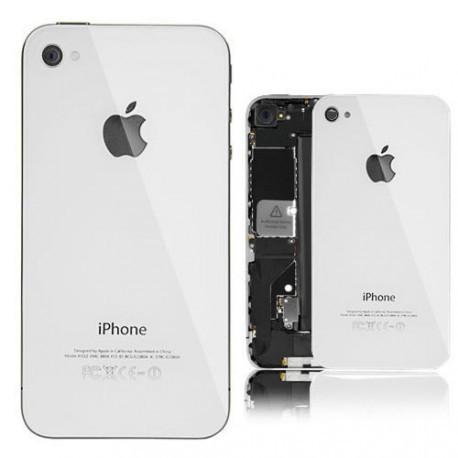 Задняя крышка (алюминиевая) для iPhone 4 Белая infinity
