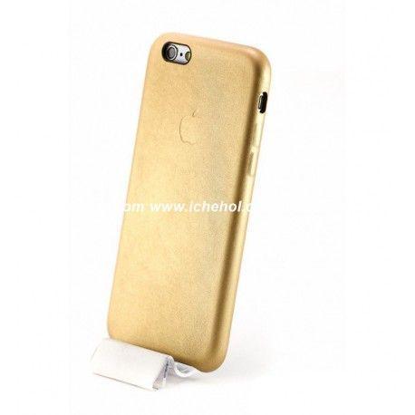 Кожаный чехол для iPhone 6/6s Золотой infinity