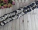 Школьные бантики 7,5*4 см на резинках для волос синие + белые 24 шт/уп., фото 2