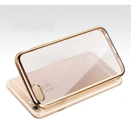 Силиконовый чехол со стразами золотого цвета для Iphone 6/6s infinity