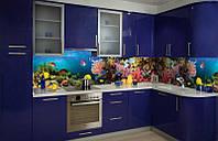 Кухонный фартук Аквариум, (полноцветная фотопечать, стеновая панель для кухни) 650*2500 мм