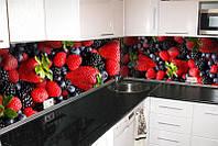 Кухонный фартук Лесная ягода, (полноцветная фотопечать, стеновая панель для кухни) 650*2500 мм