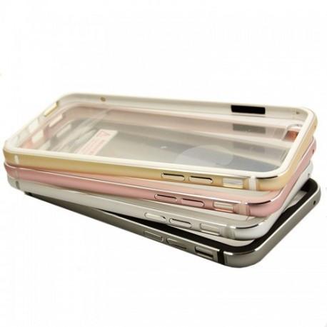 Силиконовый чехол для iPhone 5/5s/5se с алюминиевым бампером Pink infinity