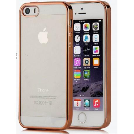 Силиконовый чехол для iPhone 5/5s/5se с алюминиевым бампером Gold infinity