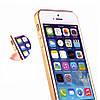 Силиконовый чехол для iPhone 5/5s/5se с алюминиевым бампером Gold infinity, фото 3