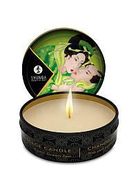 Массажная свеча Shunga Mini Massage Candle Green Tea с запахом зеленого чая