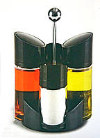 Набор для специй на подставке 5 предметов (уксус, масло, солонка, перечница, подставка)