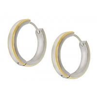 Серьги кольца женские из стали 101964