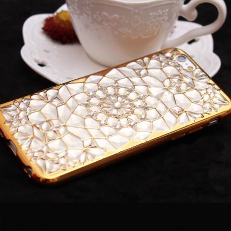 Силіконовий чохол для iPhone 6/6s Абстракція Золотий infinity