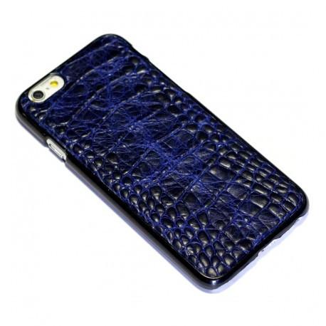 Кожанный чехол с тиснением под кожу крокодила iPhone 6/6s Синий 2 infinity