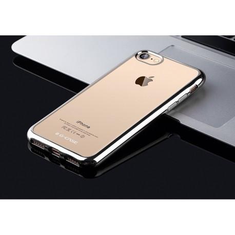 Прозрачный силиконовый TPU  чехол G-CASE  для  IPhone 7 Plus Серебристый infinity