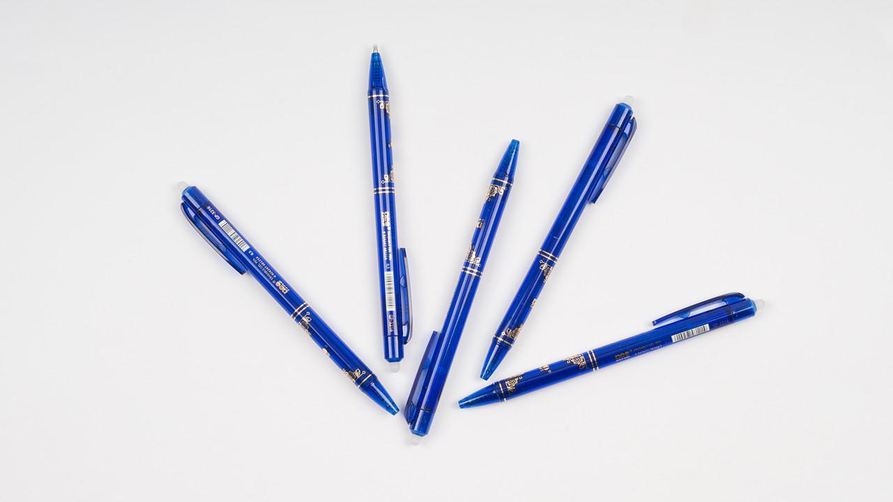 Гелевая ручка GP Neon Line пиши-стирай 0.5 мм. Синего цвета