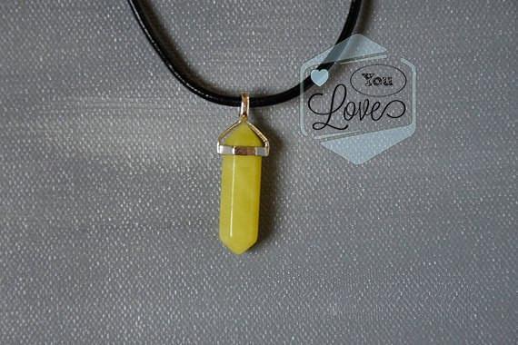 Кулон маятник  (Лимонный кварц)