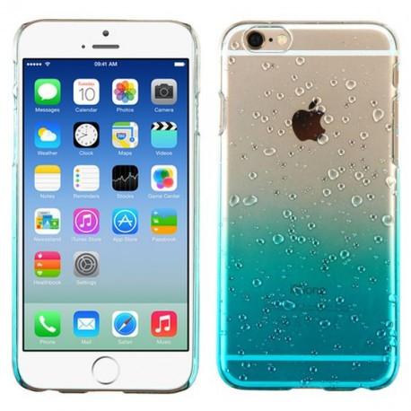 Силиконовый чехол с градиентом  для  iPhone 7 Plus Голубой infinity