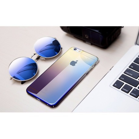 Ультратонкий пластиковый чехол с градиентом Baseus Glaze Case для iPhone 7 Plus Фиолетовый infinity
