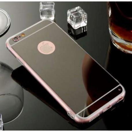 Зеркальный силиконовый чехол для  iPhone 7 Plus Черный infinity