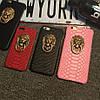 Чехол со львом и кольцом под кожу питона для iPhone 6/6S Черный infinity, фото 7