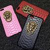Чехол со львом и кольцом под кожу питона для iPhone 6/6S Черный infinity, фото 10
