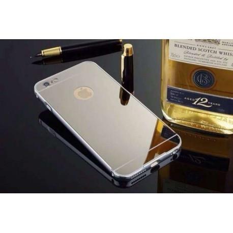 Зеркальный силиконовый чехол для  iPhone 6/6S Серебристый infinity