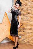 Нарядное женское платье  из мраморного велюра   42-56р, фото 6