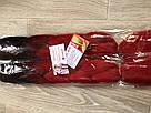 🖤 Канекалон чёрный-красный, косы для впелетения в волосы, разнообразные причёски 🖤, фото 4