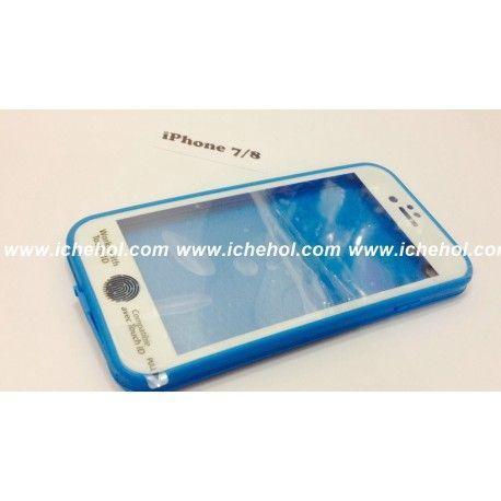Водонепроницаемый чехол для iPhone 7/8 Голубой infinity