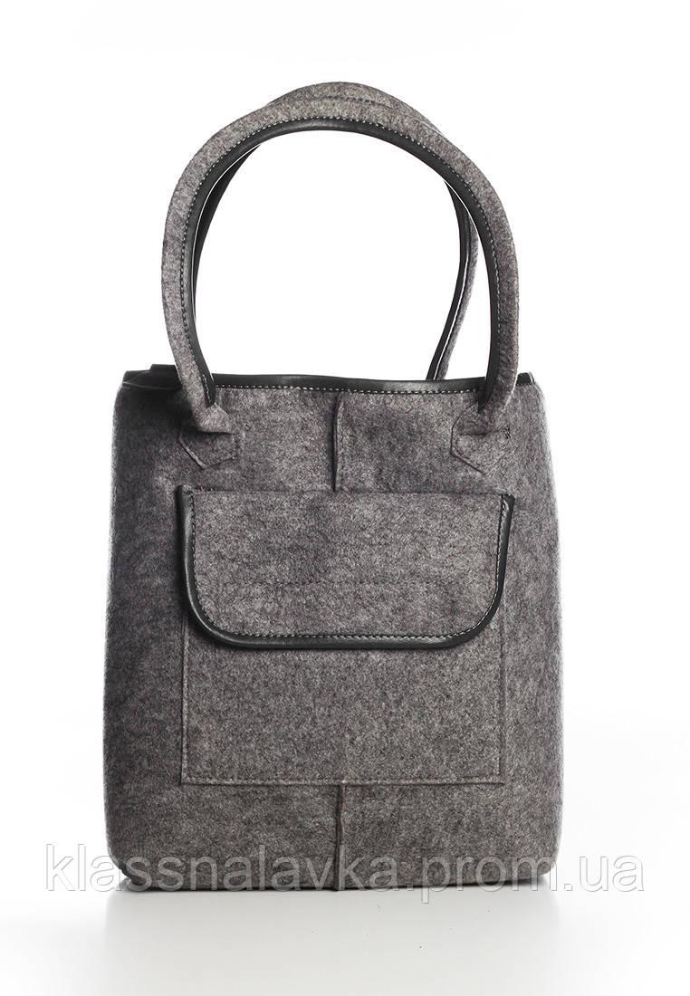 856dbea06030 VM-Villomi Войлочная сумка-авоська с черными вставками - Интернет-маркет  KLASSNA LAVKA