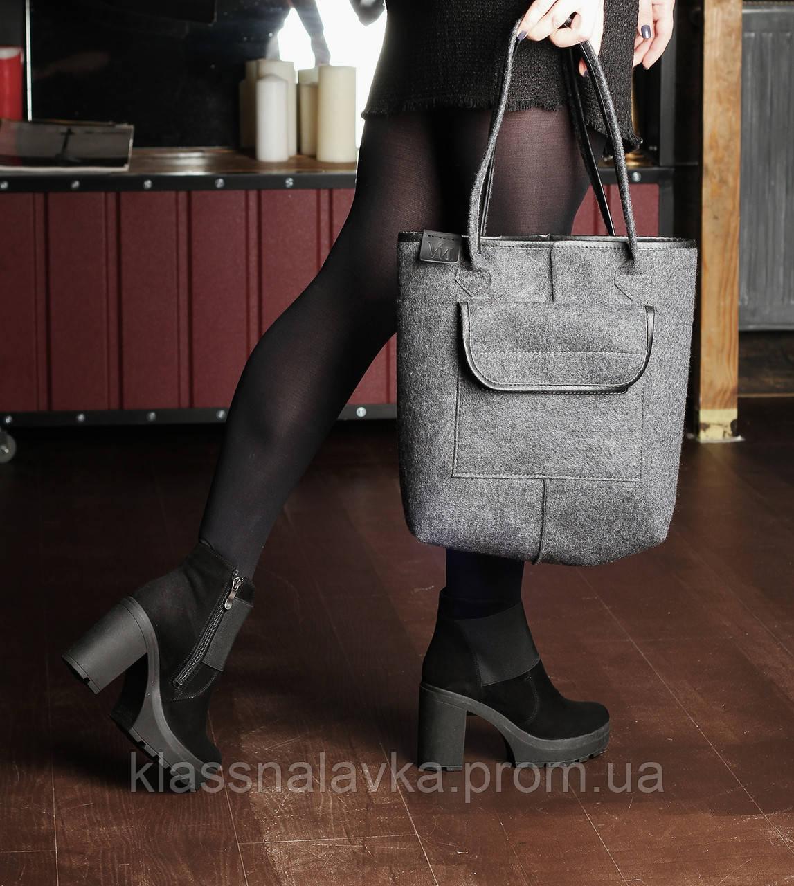 334347c4afa2 VM-Villomi Войлочная сумка-авоська с черными вставками, цена 340 грн.,  купить в Чернигове — Prom.ua (ID#936493518)