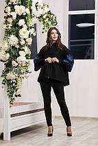 Пальто женское с вышивкой - Звезда, фото 2
