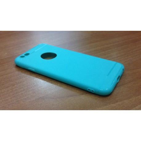 Матовый силиконовый чехол-накладка с вырезом под логотип для iPhone 6/6s infinity