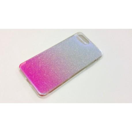 Силиконовый чехол с  градиентом  для  iPhone 7 Plus Розовый infinity