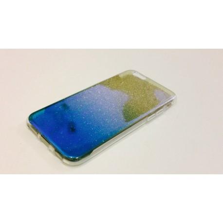 Силиконовый чехол с  градиентом  для  iPhone 6/6s Синий infinity
