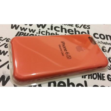 Cиликоновый Оранжевый чехол Apple для iPhone 6/6S infinity