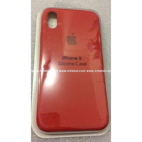 Чехол Apple для iPhone X силиконовый Красный infinity