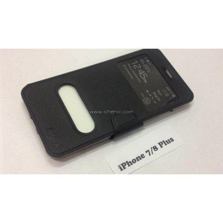 Чехол книжка для iPhone 7/8 Plus iMax Smart Case Черный infinity