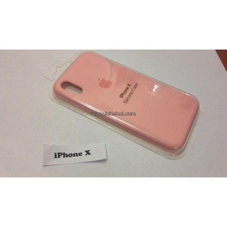 Чехол Apple для iPhone X силиконовый Розовый infinity