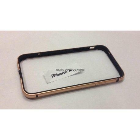 Алюминиевый бампер с силиконом для iPhone X Золотой infinity